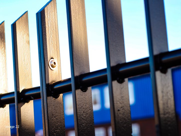 mild steel galvanized and powder coated flat-infill-bar railings