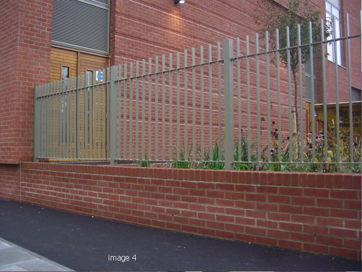 Galvanized and powder coated flat bar infill railings