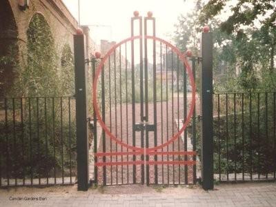 Camden Gardens decorative gates