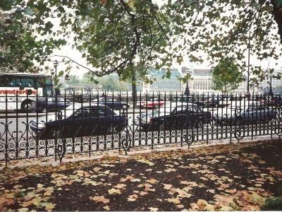 Galvanised and powder coated bespoke metal railings