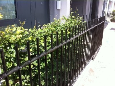 Decorative vertical bar railings