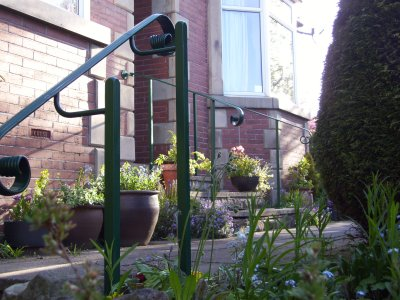 galvanised and powder coated handrail