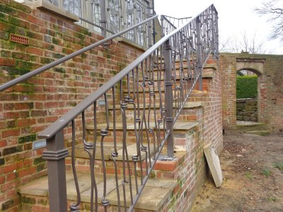 Galvanised and powder coated decorative balustrade