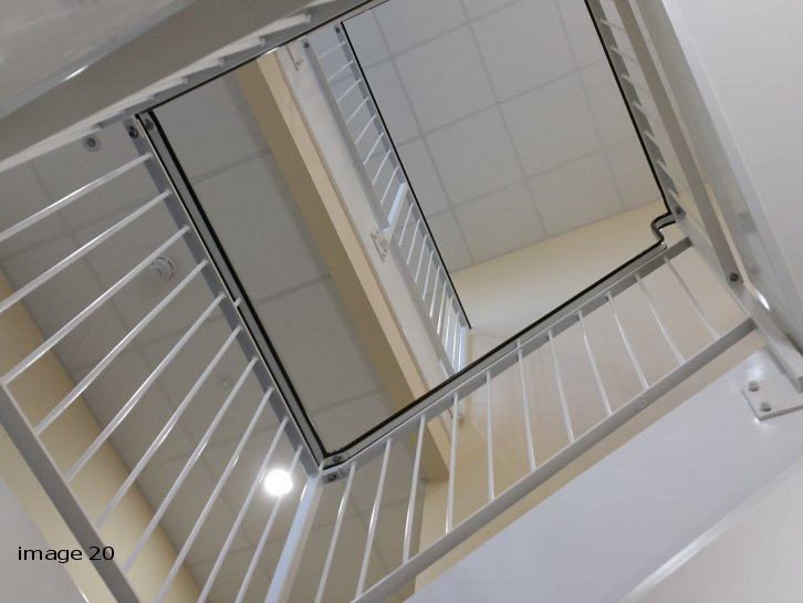mild steel powder coated stair core railings c/w pvc handrail