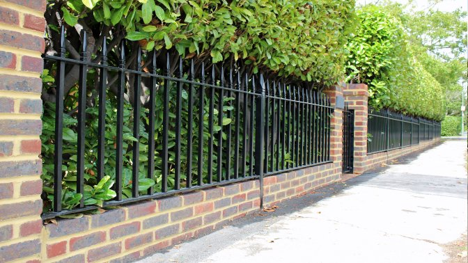 galvanized and powder Westminster style railings to front of boundary