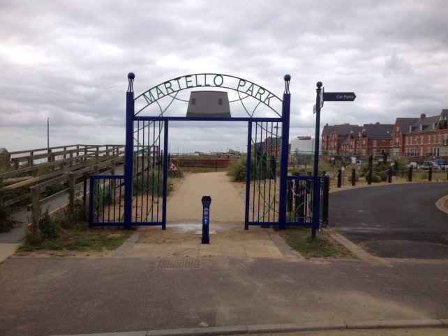 decorative metal archway - martello park, felixstowe
