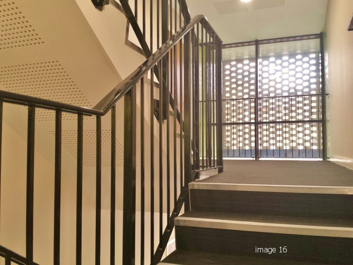 mild steel galvanized and powder coated stair core railings