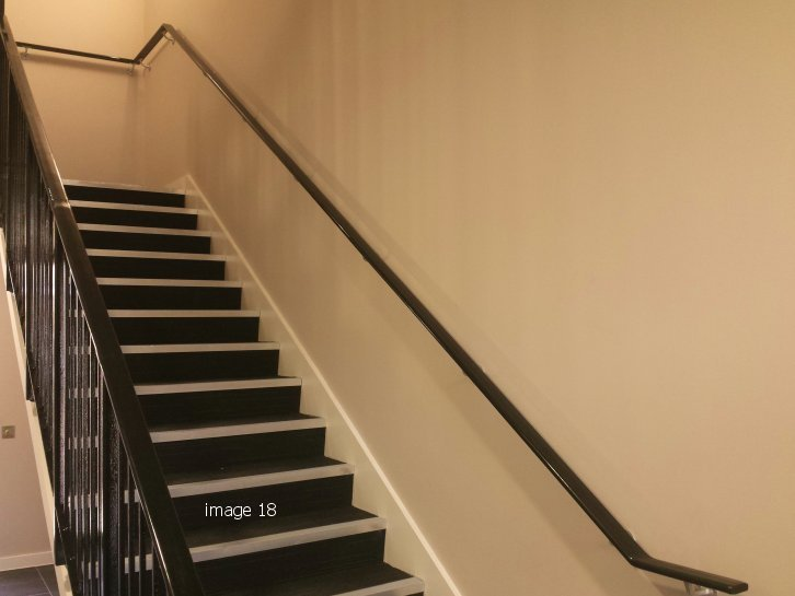 mild steel galvanized and powder coated stair core railings complete with handrail