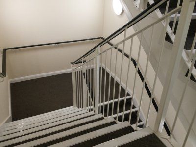 galvanized and powder coated stair core balustrade with handrail