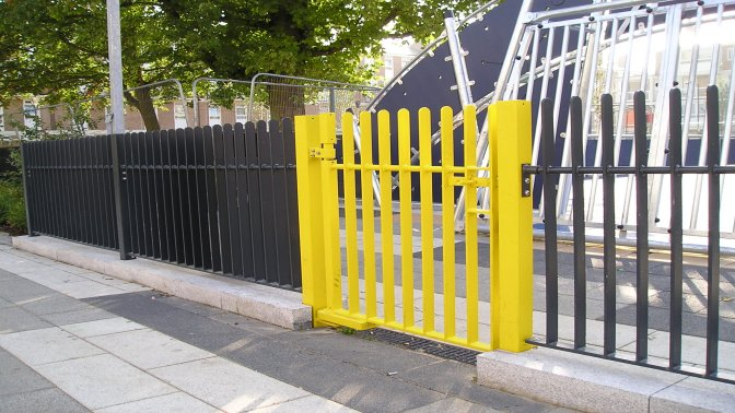 mild steel galvanized and powder coated flat bar infill railings