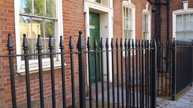 mild steel galvanized and powder coated 'Churchill' style railings