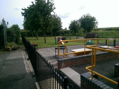 galvanized and powder coated mild steel Playspec Bow Top Railings