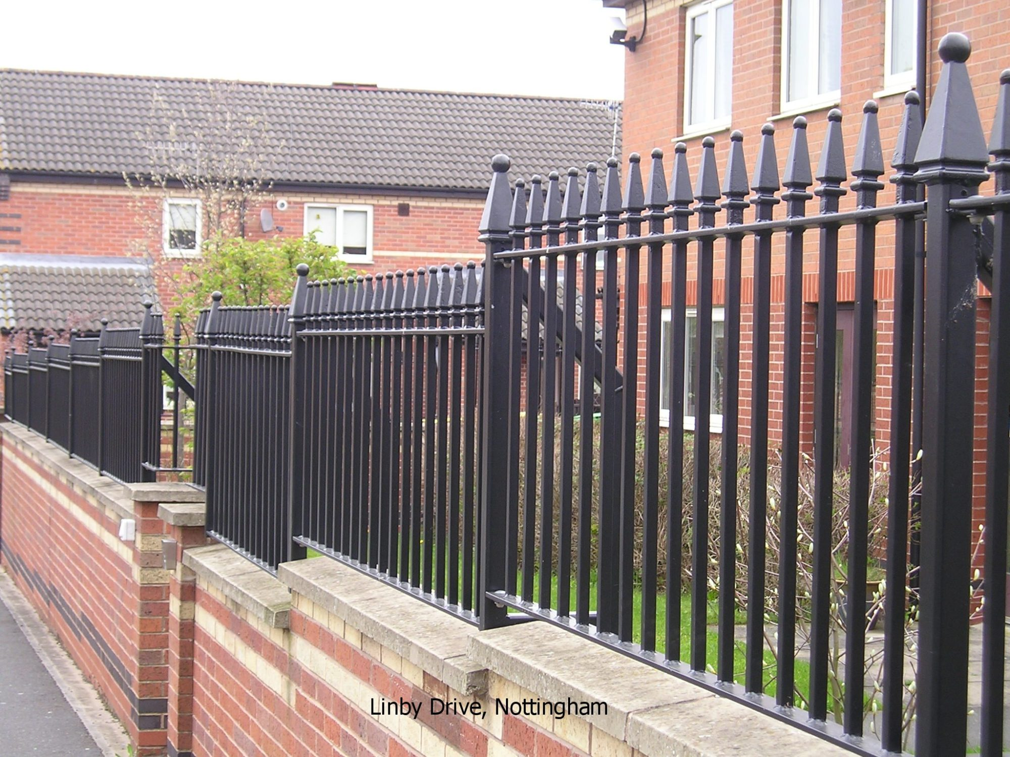 Steel Bow Top Railings for Care Homes