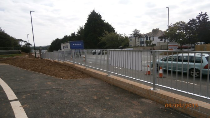 mild steel galvanized pedestrian guardrail