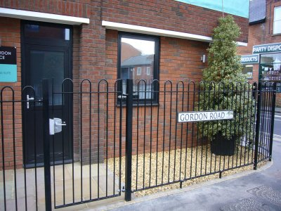 mild steel galvanized and powder coated Bow Top Railings and Gates