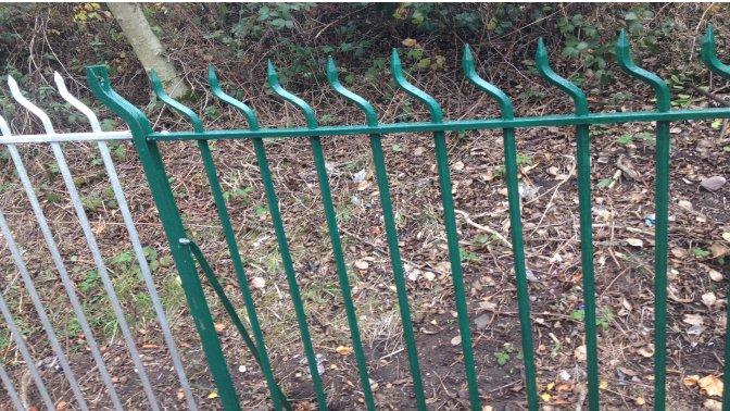 mild steel galvanized 'Swan Neck' Railings