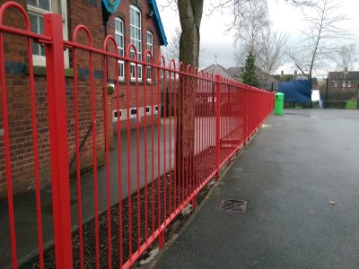 mild steel galvanized and powder coated 'Play Spec Railings'