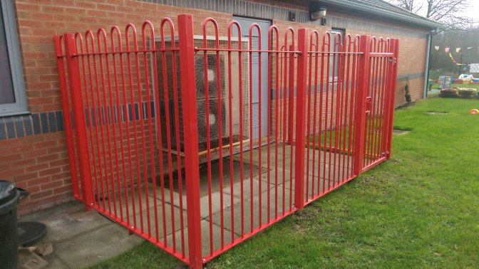 mild steel galvanized and powder coated Bow Top Railings