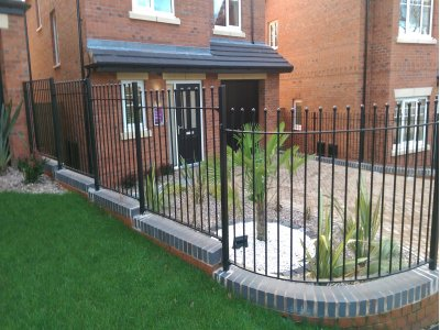 galvanized and powder coated mild steel ball top railings