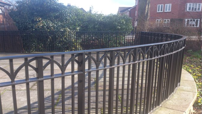 mild steel galvanized and powder coated deocrative railings