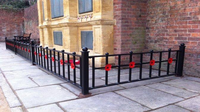 mild steel decorative 'poppy' railings