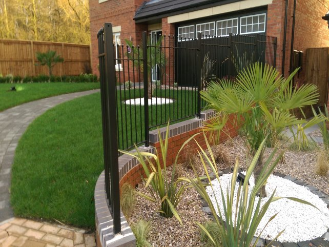mild steel galvanized and powder coated Vertical Bar Ball top railings