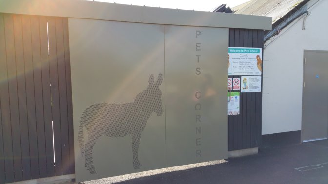 powder coated aluminum plate with perforated donkey