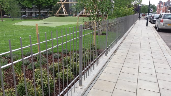mild steel bespoke vertical bar railings galvanized and powder coated
