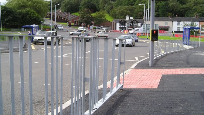 galvanized Optirail type V4 Pedestrian Guardrail