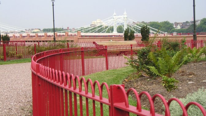 mild steel Interlaced Bow Top Railings