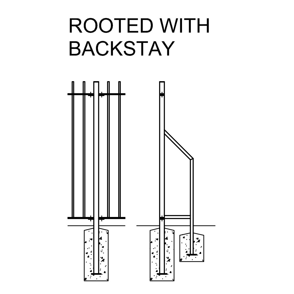 ROOTED WITH BACKSTAY