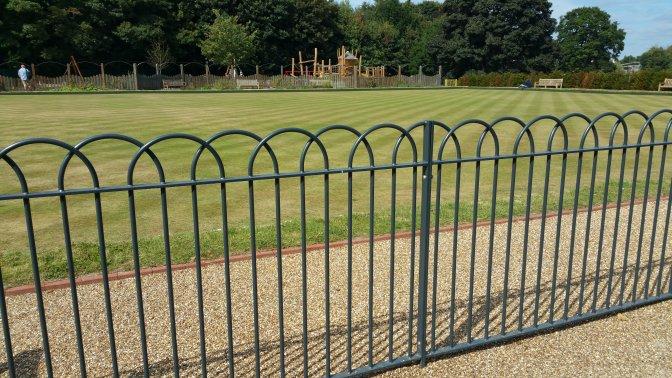 mild steel interlaced bow top railings