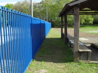 galvanized and powder coated mild steel play spec railings