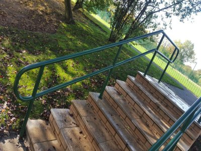 mild steel galvanized and powder coated balustrade handrails