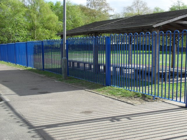 Galvanised and powder coated bow top railings
