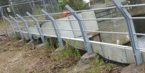 Riverside balustrade at Trent Basin in Nottingham