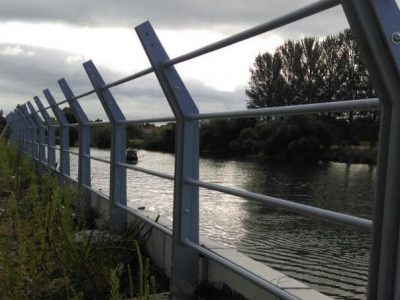 Riverside balustrade at Trent Basin