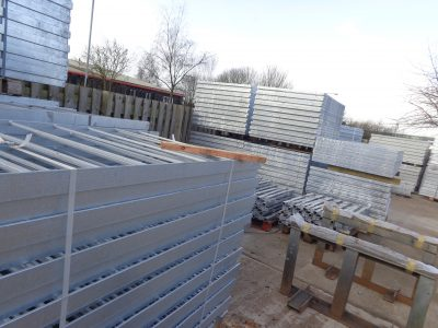Pedestrian guardrail in stock for immediate dispatch