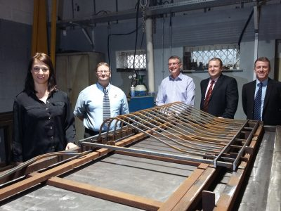 Ashfield MP opens Alpha Rail metal railings manufacturing facility