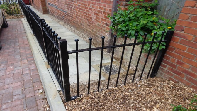 decorative vertical bar railings mild steel galvanized and powder coated