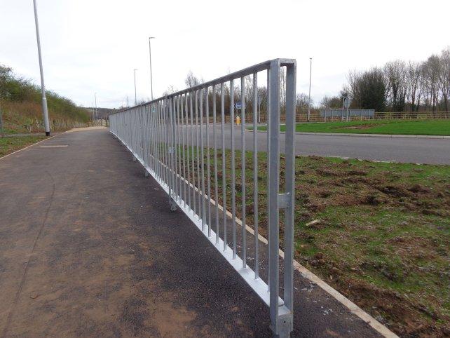 galvanized Optirail Pedestrian Guardrail