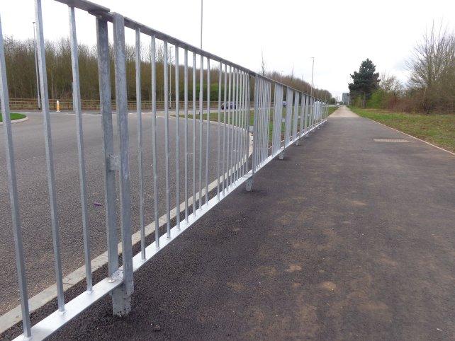 galvanized Optirail Pedetrian Guardrail