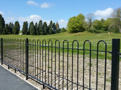 Galvansised and powder coated bow top railings