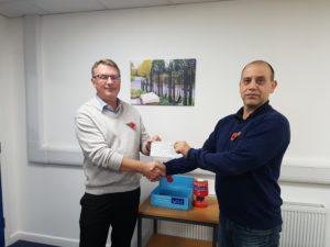 Neil Mason Alpha Rail donated to poppy day