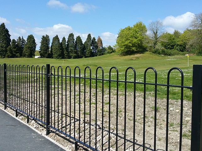 Bow Top Railings manufactured and installed by Alpha Rail