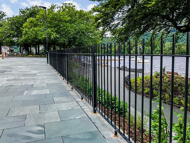 Vertical Bar Railings manufactured and installed by Alpha Rail