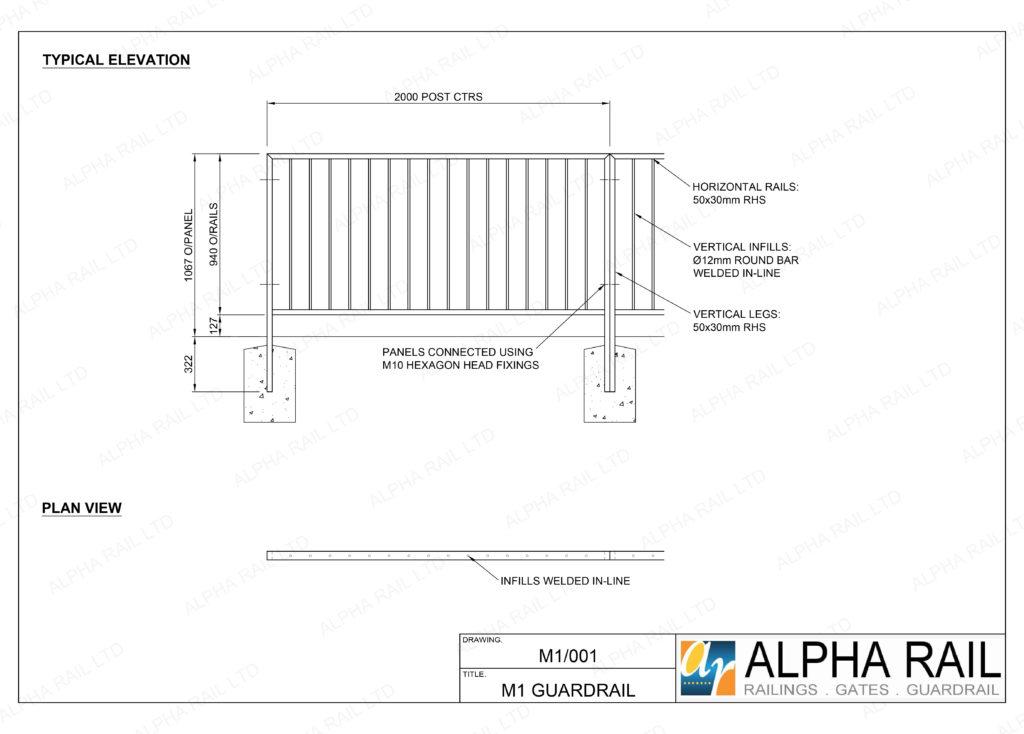 M1 Pedestrian Guardrail