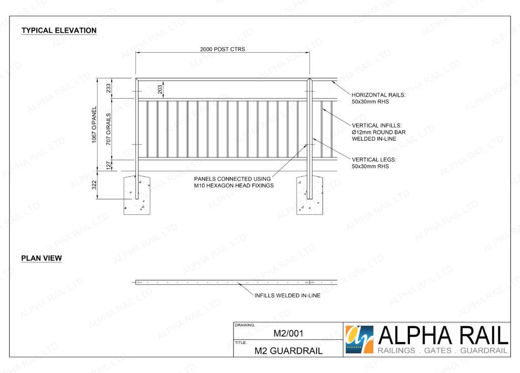 M2 Pedestrian Guardrail