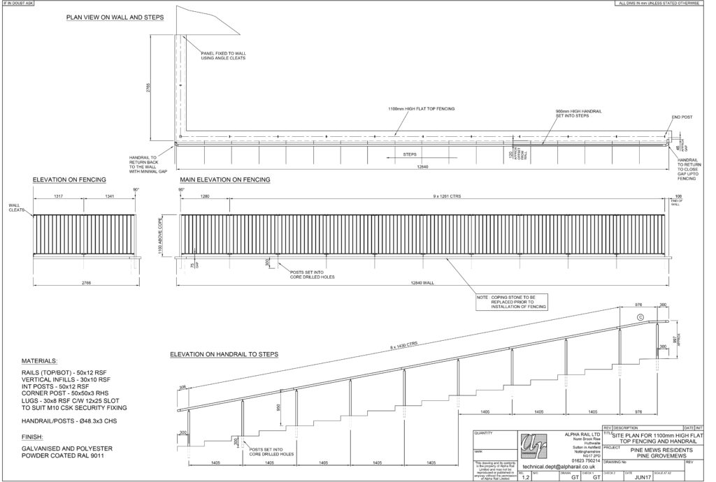 Pine Grove Mews Technical Drawing