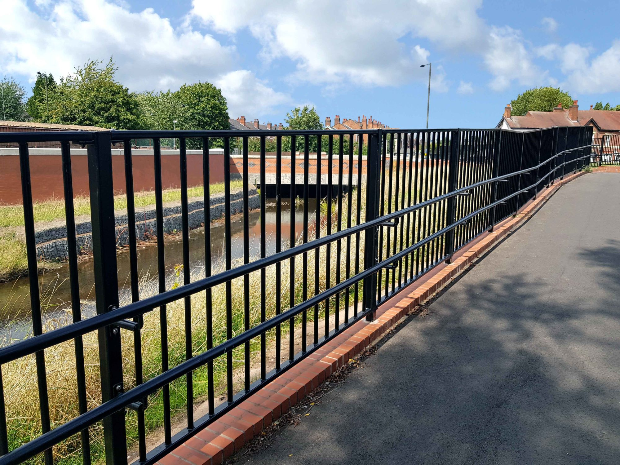 Alpha Rail Pedestrian Parapet Guardrail at Selly Park